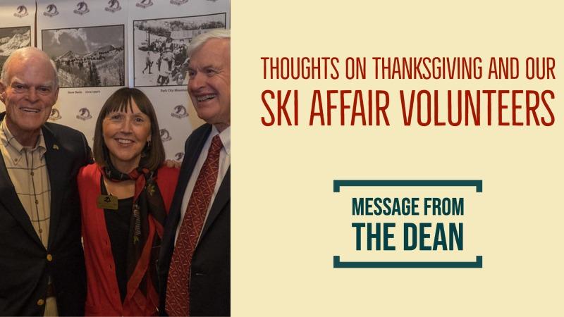 message from the dean november 2020 ski affair volunteers