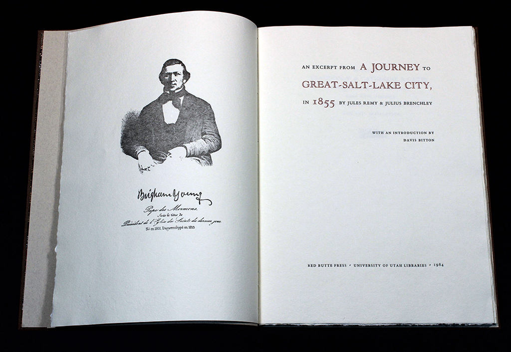 An Excerpt from a Journey, title page