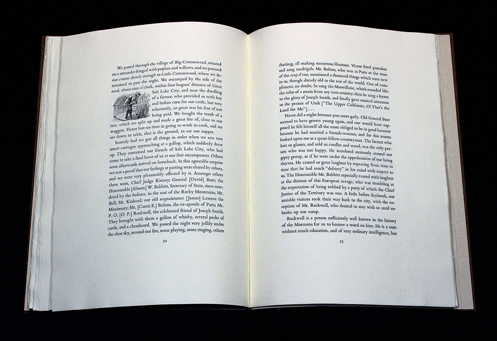 "page spread from ""An Excerpt from a Journey"""