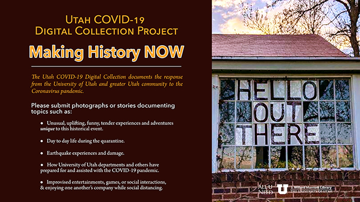 submit your photos to the utah covid 19 digital collection