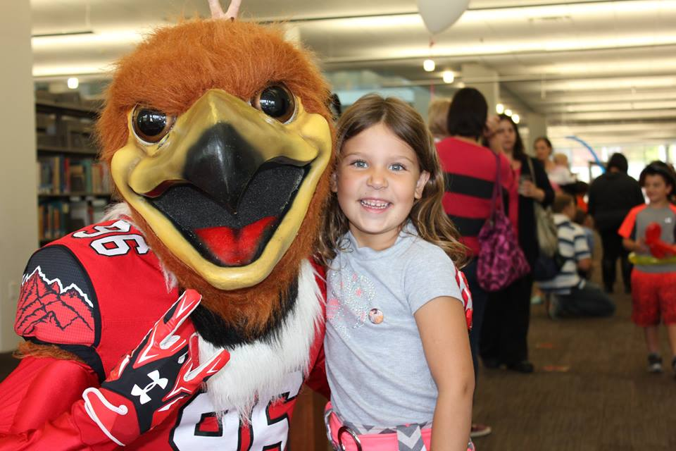 Family Reading Room Opening with Swoop