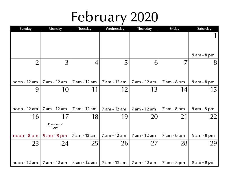 Uofa Fall 2020 Calendar.Hours Marriott Library The University Of Utah