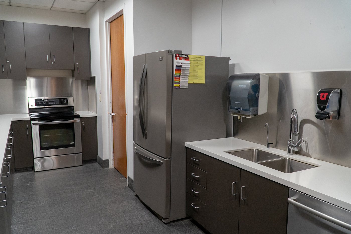 Kitchen next to Gould auditorium