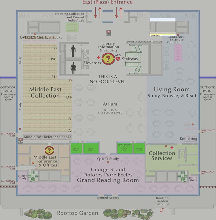 Level 3 Exhibit Space Map