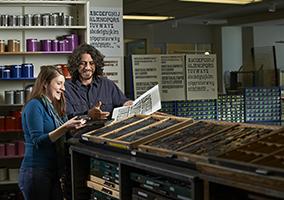 letterpress teacher + student