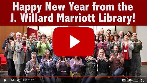 Happy Holiday Video from the J. Willard Marriott Library