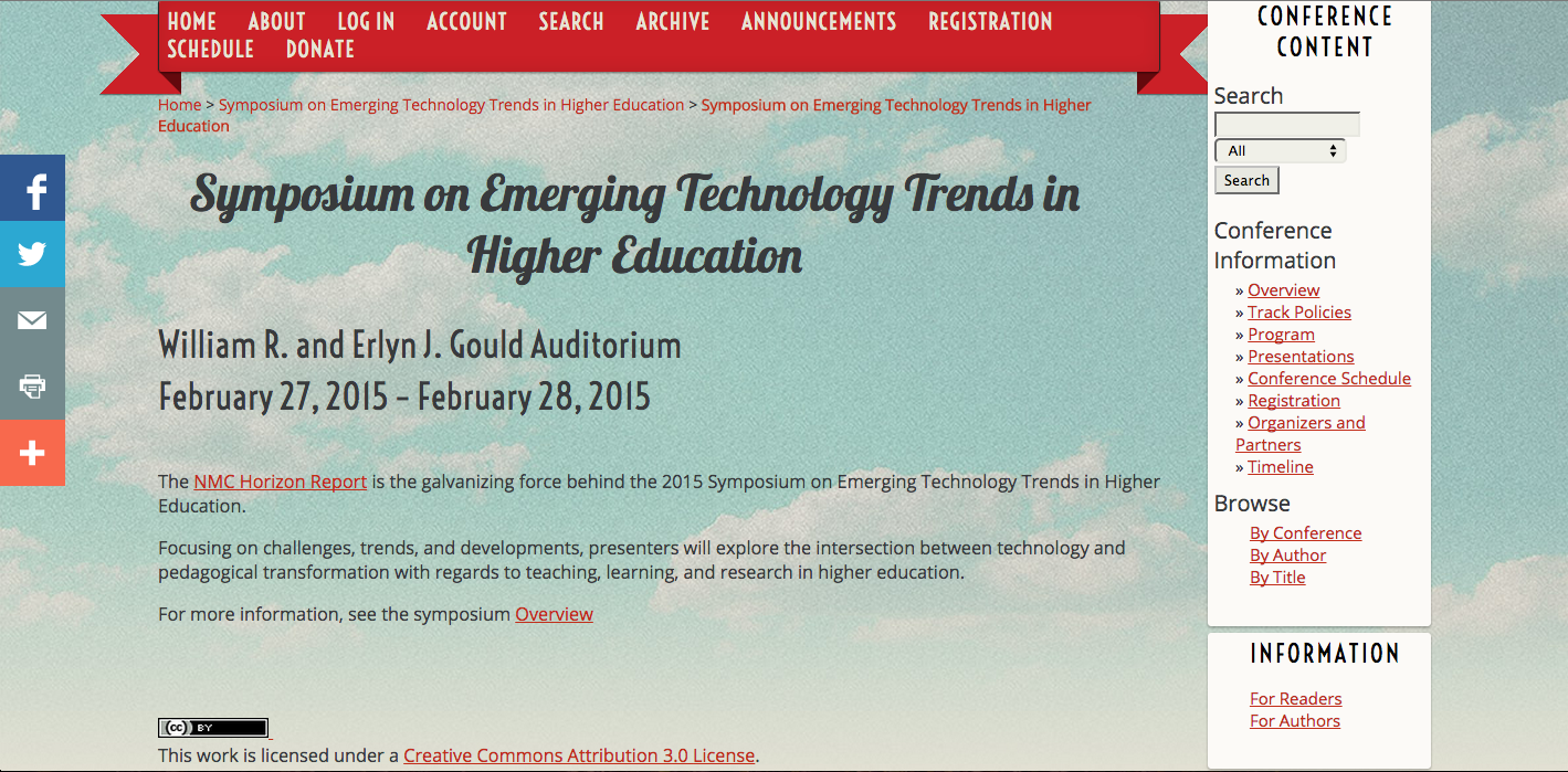 symposium emerging technology 2015