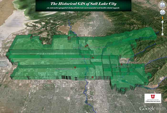 Screenshot representing The Historical GIS of SLC Project