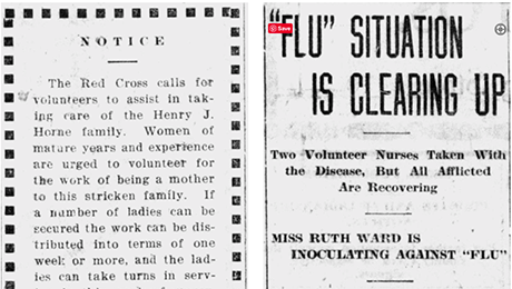 headlines from the 1918 flu pandemic newspaper collection