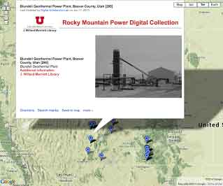Screenshot representing The Rocky Mountain Power Digital Photo Collection project