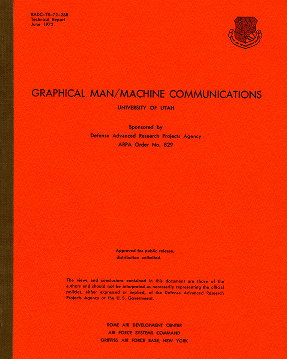 Journal cover Graphical Man/Machine Communications Technical Report (June 1972)