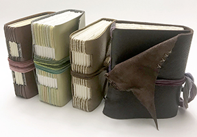 image of leather bound books