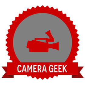 camera geek badge