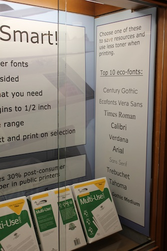 Print Smart! Eco Friendly Fonts: