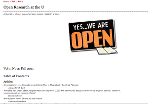 Open Research OJS