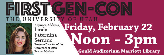 First Gen-Con Feb 22 noon - 3 pm Gould