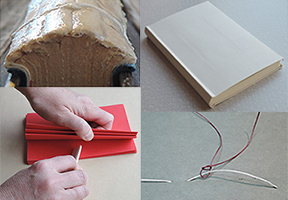 image of various book binding techniques
