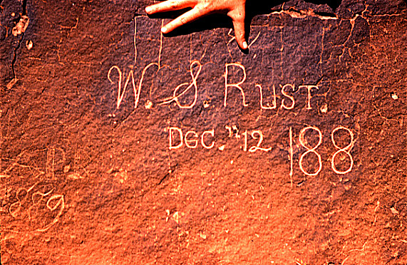 W.S. Rust inscription