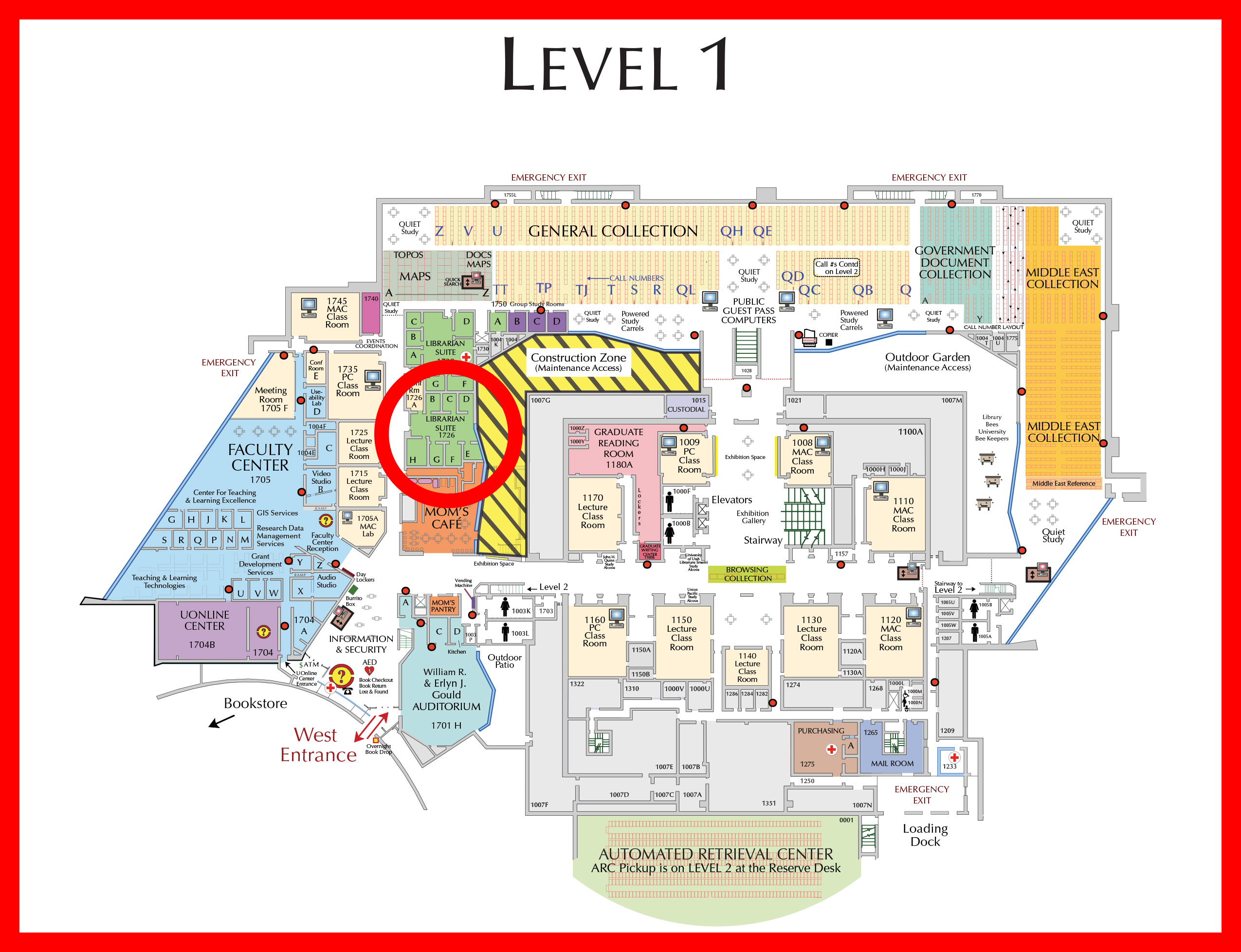 Undergrad and Graduate Services Location