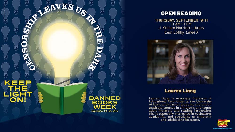 Banned Books Open Reading, Thursday September 19th, 12 PM