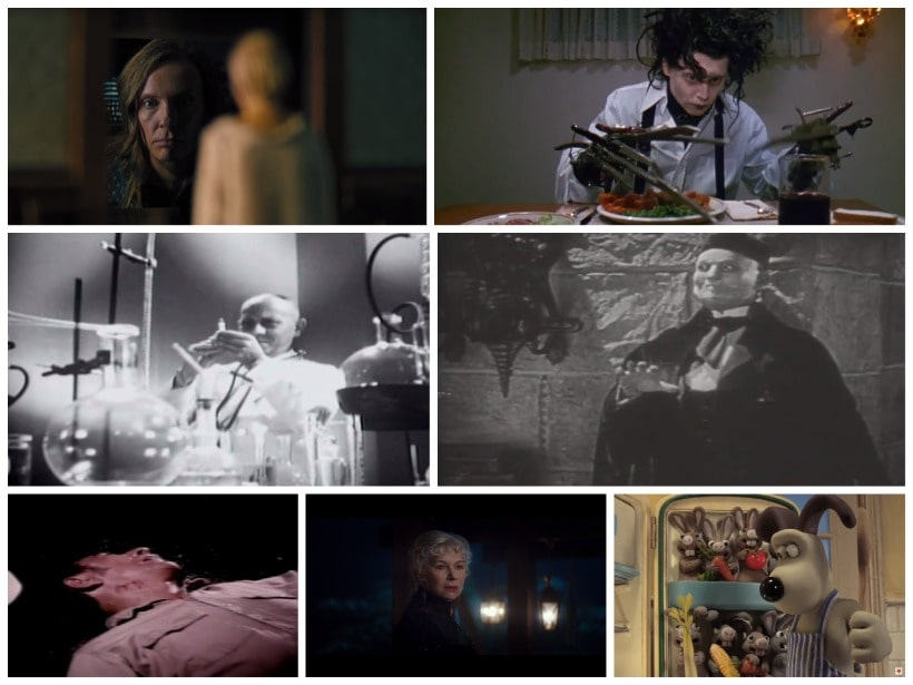 film covers of several spooky and horror movies