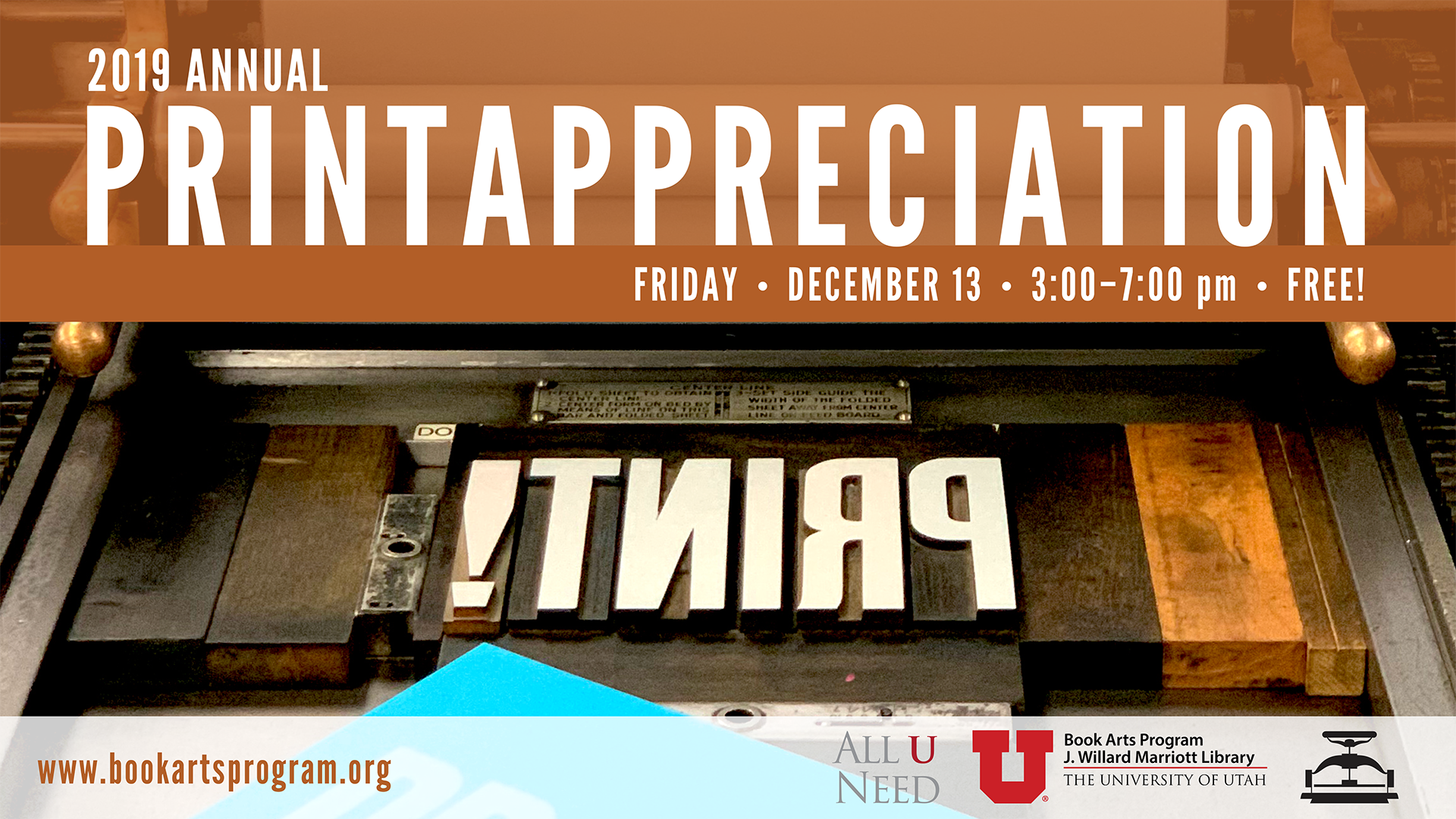 2019 print appreciation friday december 13 3 to 7 pm free book arts program