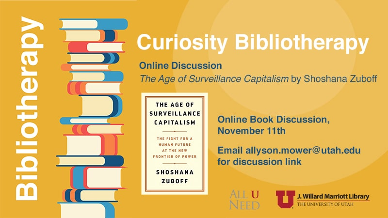 book discussion Book Discussion The Age of Surveillance Capitalism by Shoshana Zuboff November 11th