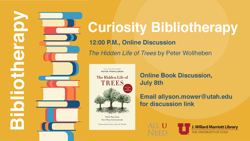 the hidden Life of Trees by Peter Wollheben july 8th 12 pm