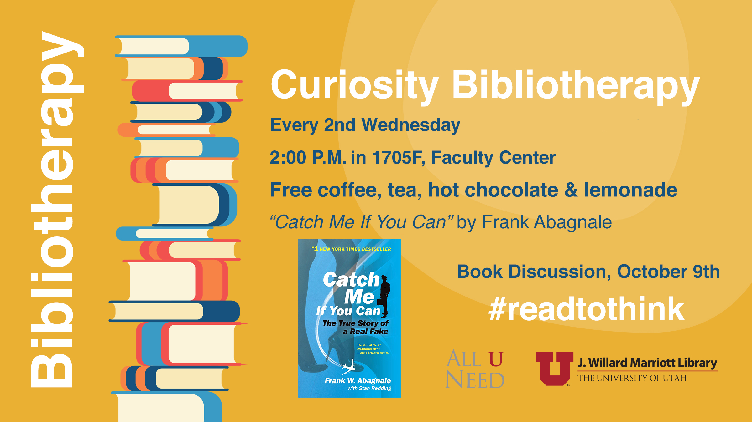 """Book Discussion - """"Catch Me If You Can"""" by Frank Abagnale, Wednesday, October 9, 2019 at 2 PM – 3 PM"""