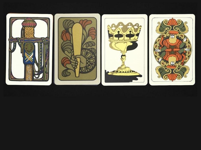 four tarot cards spread out