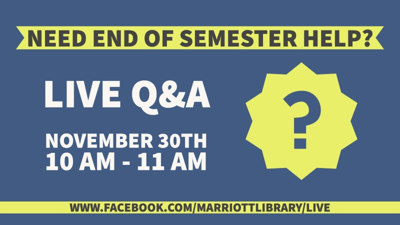 live q & a nov 30 10am to 11am need help this semester