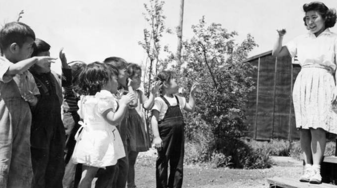 Japanese Internmanet Camp WRA pre-school