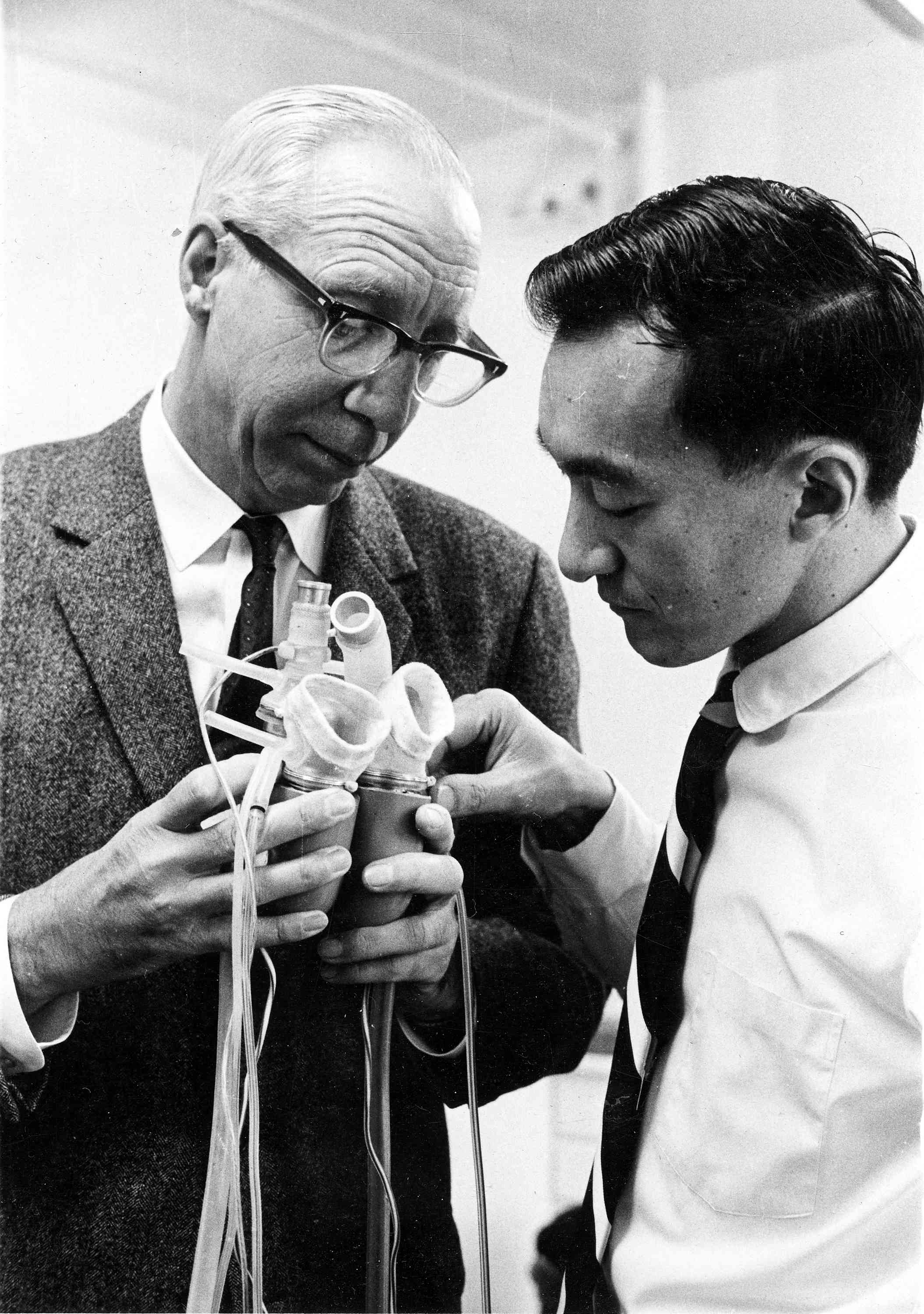 Dr. Kolff with Dr. Clifford Kwan-Gett
