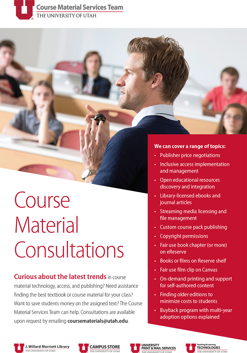 Course Material Services ad