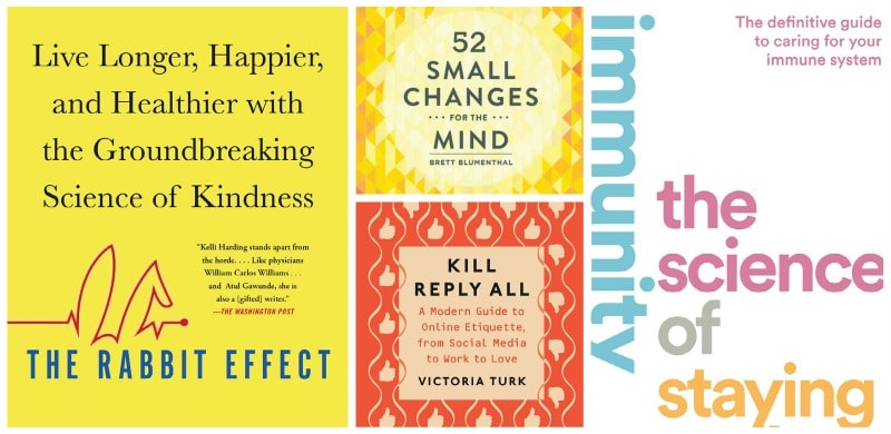 book covers that highlight recommends for new years resolutions