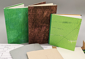 image of pamphlet stitched books