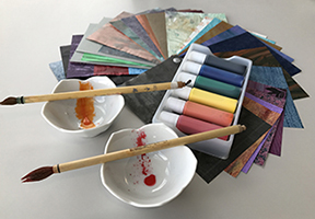 example of tools for making decorative paper