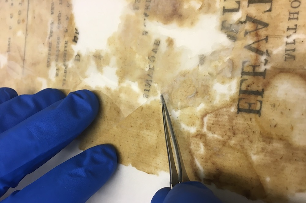 removal of pva from a deteriorated page