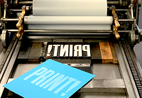image of type on press