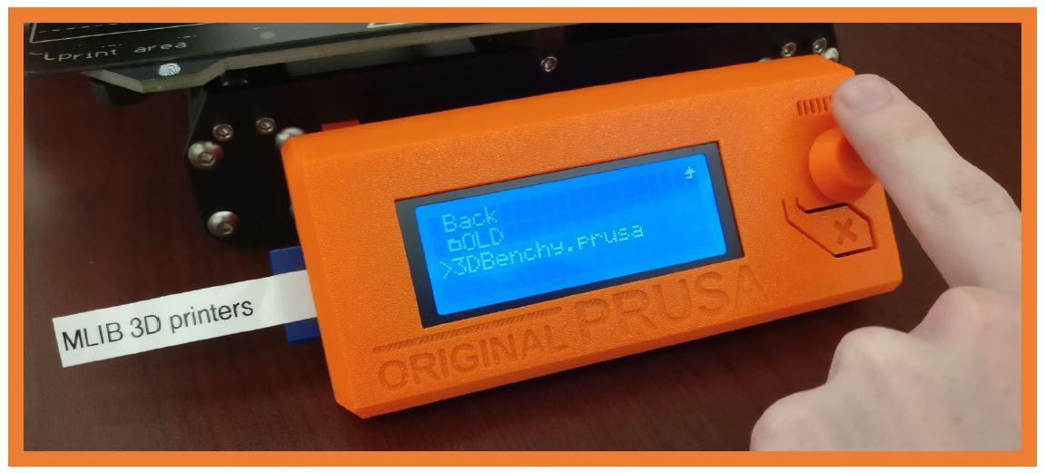 Start a print on the prusa