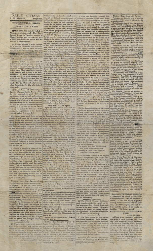 Daily Citizen, 1859