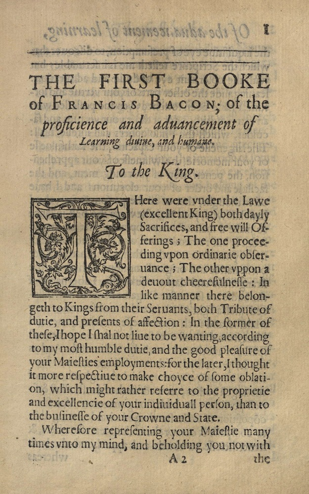 Bacon, Twoo Bookes, 1605