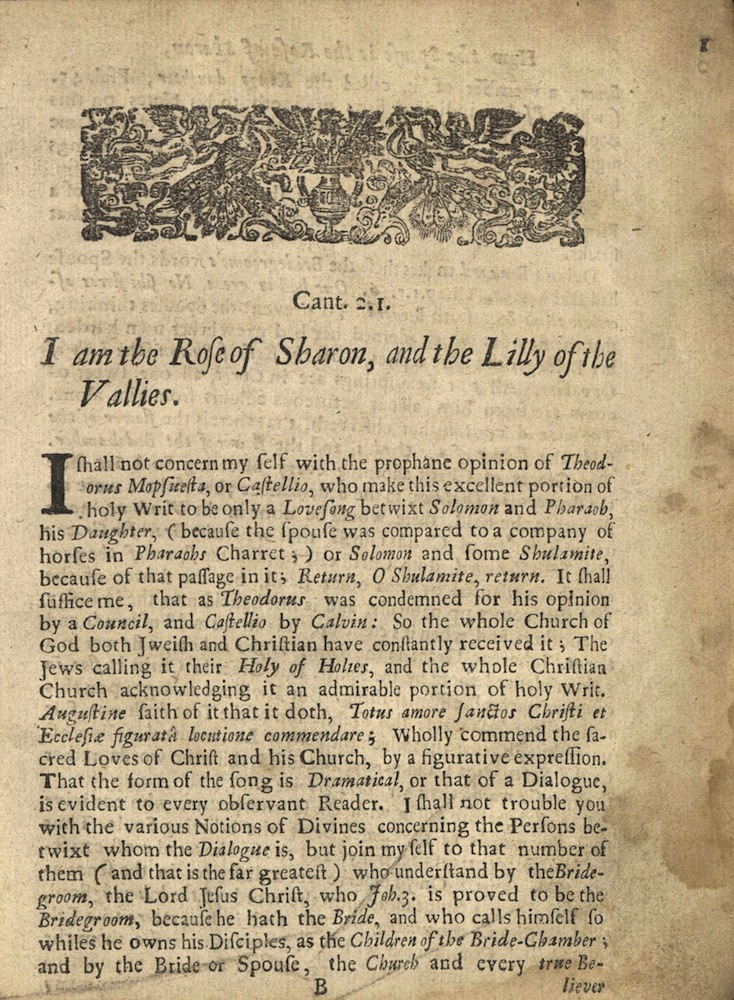 Collinges, The intercourses of divine love, 1676