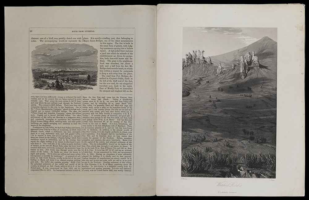Piercy, Route From Liverpool To The Great Salt Lake Valley…, 1854-1855