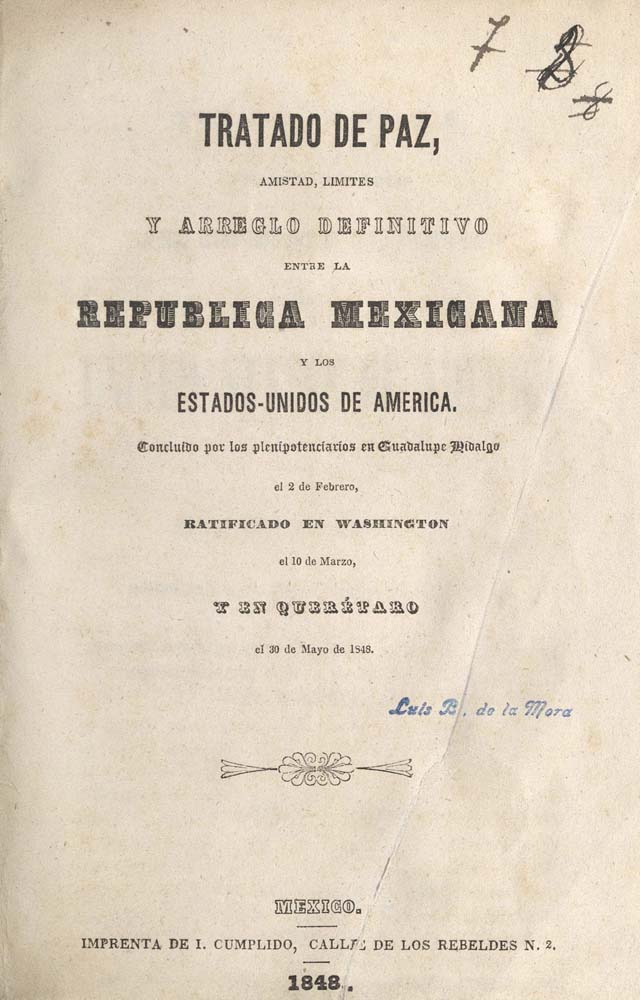 Mexico Treaties, Spanish Title