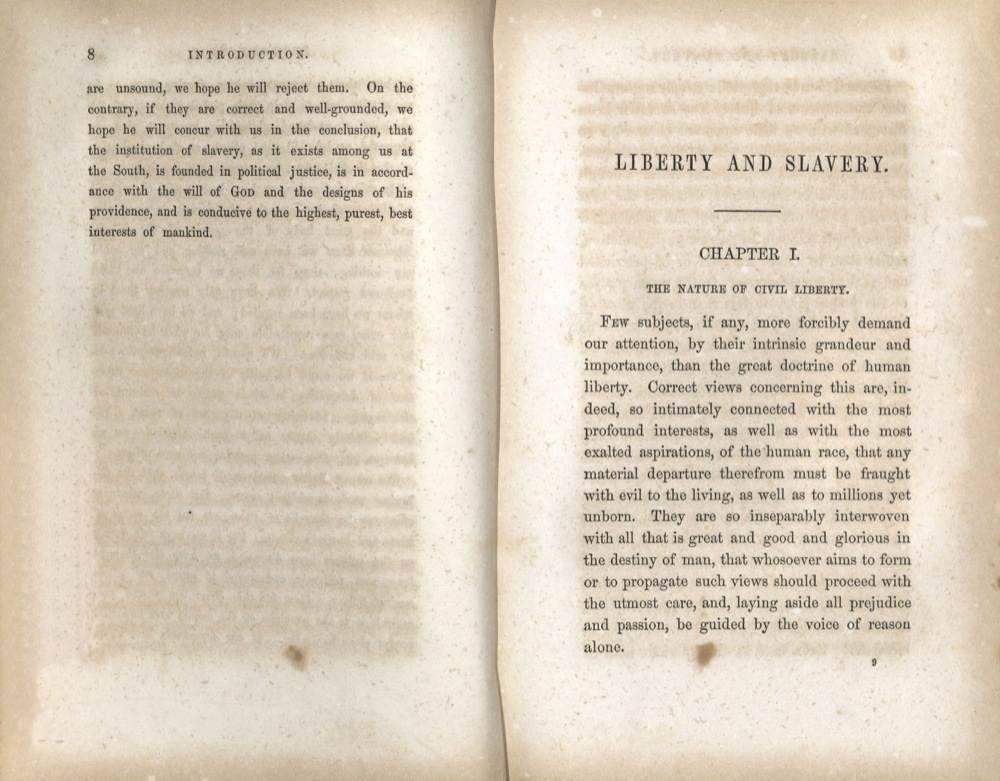 Albert Taylor Bledsoe, An Essay on Liberty and Slavery…,  1856