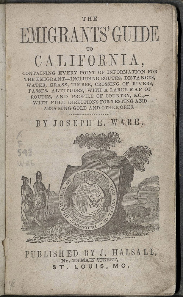 Ware, The Emigrants' Guide To California, 1849?