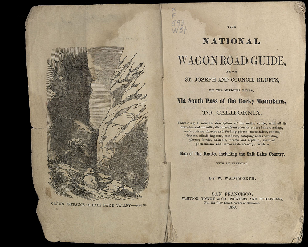 Wadsworth, The National Wagon Road Guide, 1858