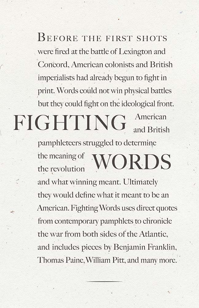 Fighting Words Exhbition Poster, 2012