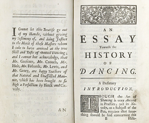 Weaver, An Essay Towards a History of Dancing..., 1712
